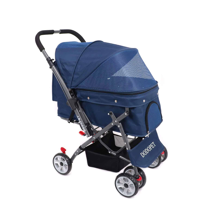 DODOPET DogCat Pet Stroller, 4 Wheel Dog Cage Stroller