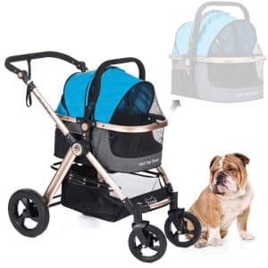 HPZ Pet Rover Prime 3-in-1 Luxury Dog Cat Pet Strollers