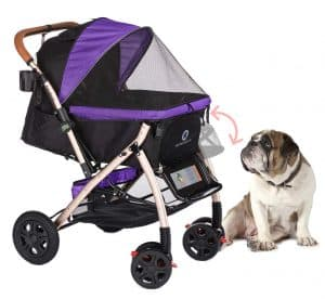 HPZ Pet Rover XL Extra-Long Premium Heavy Duty Dog Cat Pet Stroller
