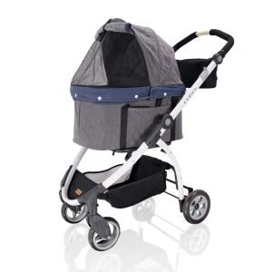 ibiyaya Dog Stroller for Dogs Detachable Carrier – 3-in-1 Travel Crate + Car Seat + Carriage Stroller