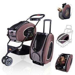ibiyaya Multifunction Pet Carrier Backpack Car Seat Pet Carrier Stroller