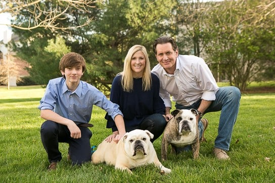 Bulldogs with a family