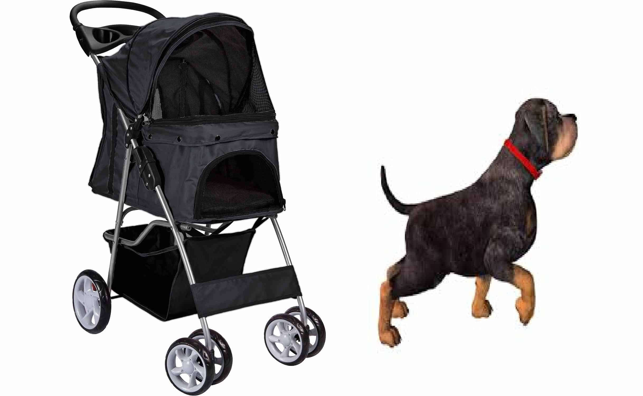 rottweiler puppies dog stroller