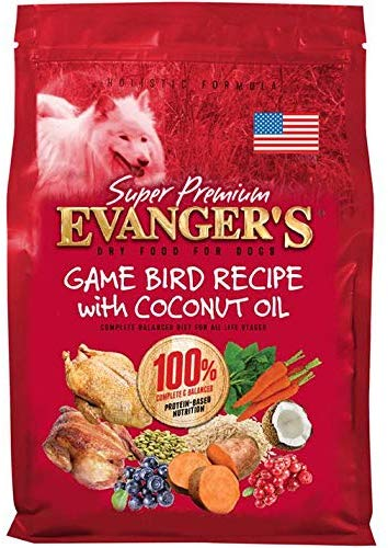Evanger Super Premium Gamebird Recipe with Coconut Oil Dry Food for Dogs