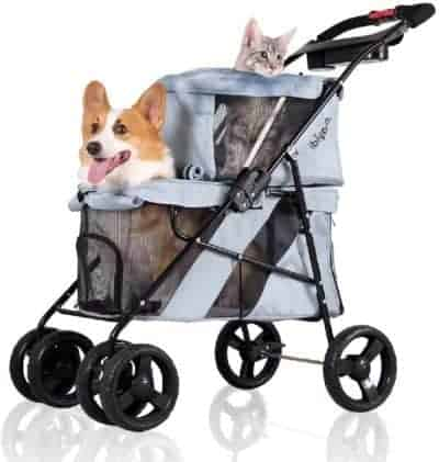 Ibiyaya twin dog stroller