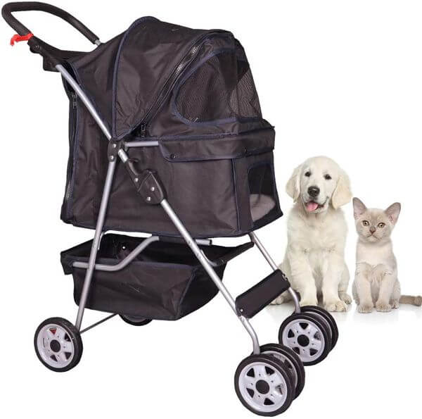 Tffnew dog stroller with removable liner